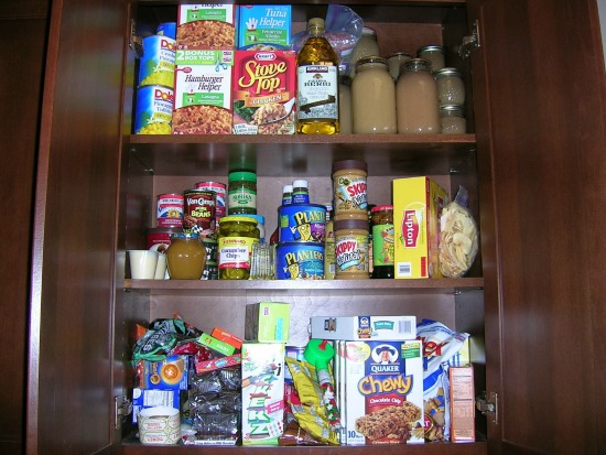Pantry Full of Processed Food