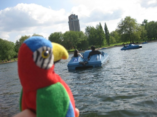 paddle boats in Hyde Park