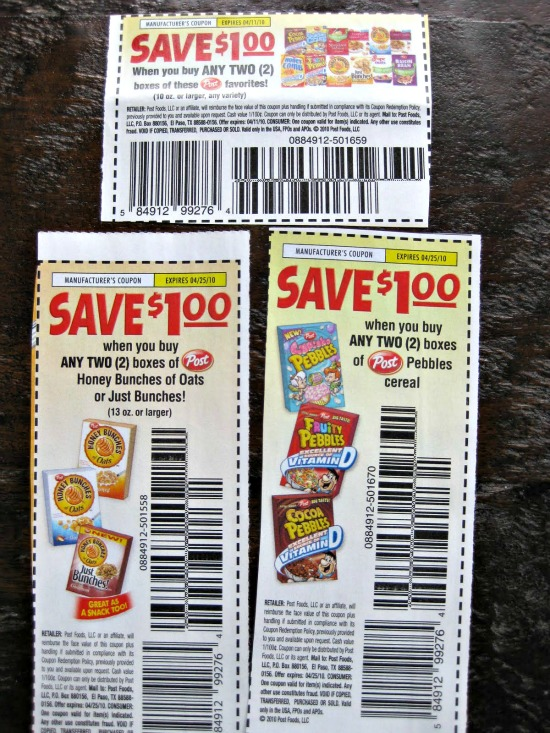 coupons for free cereal