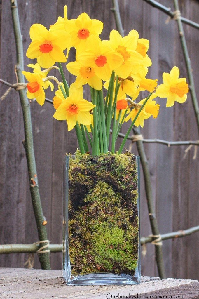 How to make an easter spring centerpiece using fresh