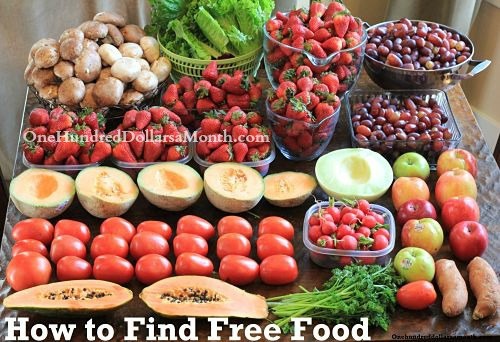 how to get free food