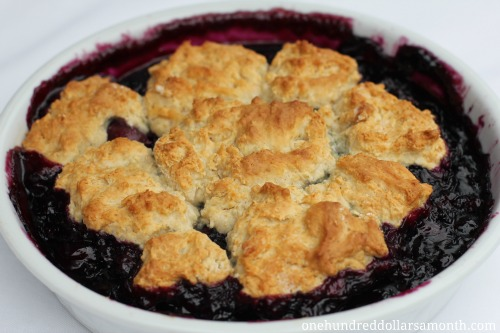 Easy Summer Recipes - Blueberry Cherry Cobbler - One ...