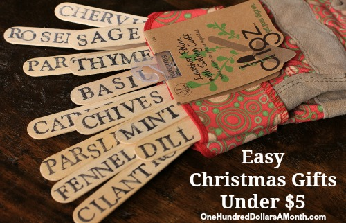 Easy christmas gifts garden gloves and plant markers for Easy to make crafts for christmas gifts