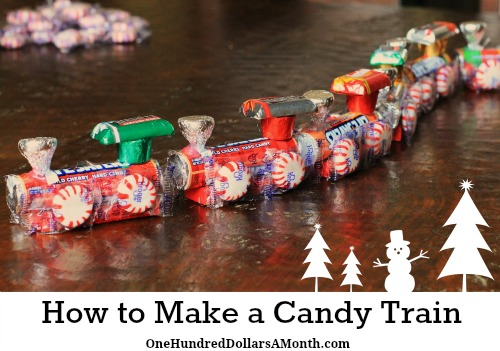 How To Make A Candy Train - Easy Kids Christmas Crafts - One ...