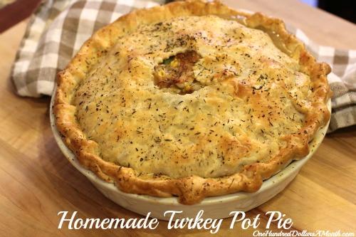 Thanksgiving leftovers turkey pot pie recipe one for Leftover thanksgiving turkey recipes