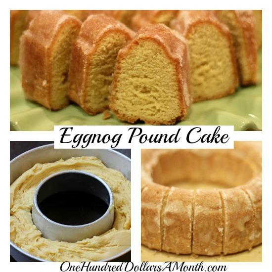 Eggnog Pound Cake From Box