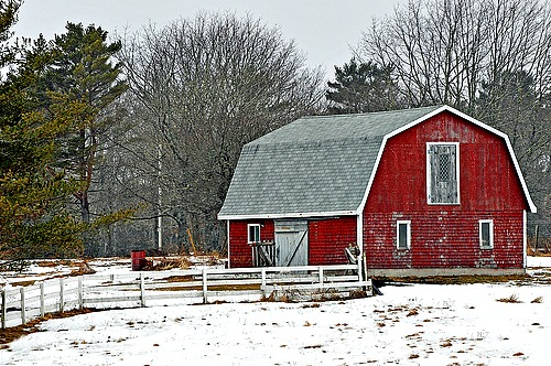 Pictures Of Red Barns