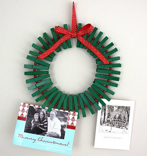 Christmas Crafts for Kids - Clothes Pin Wreath, Finger ...