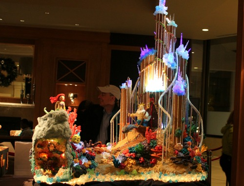 Seattle sheraton gingerbread houses the little mermaid for Ariel christmas decoration