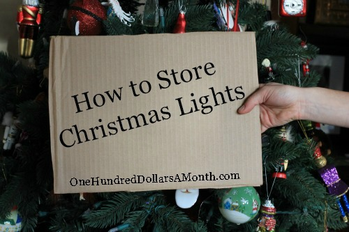 easy holiday tips storing christmas lights one hundred dollars a month - Best Way To Put Christmas Lights On Tree