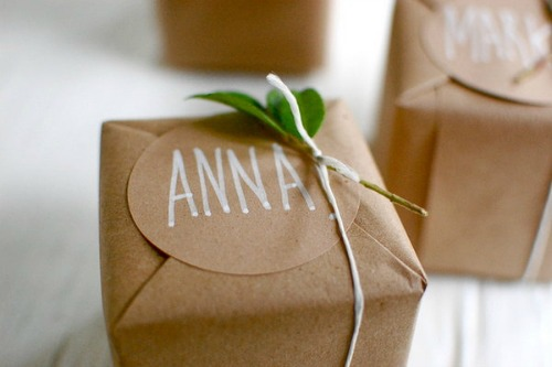 Clever Christmas Gift Wrapping Ideas - Dish Towels, Old ...