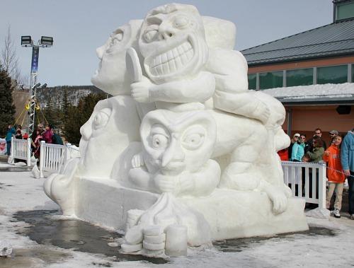 Snow sculpture colorado
