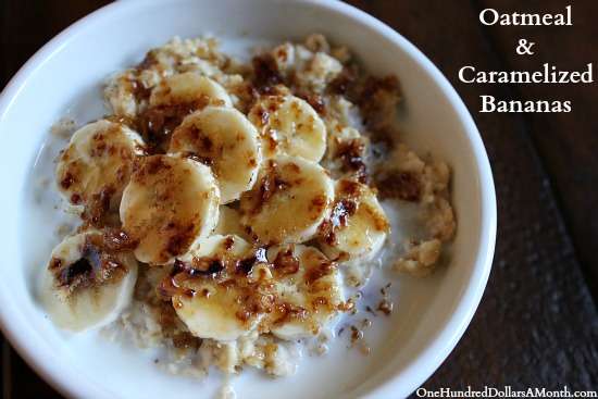 Oatmeal with Caramelized Bananas