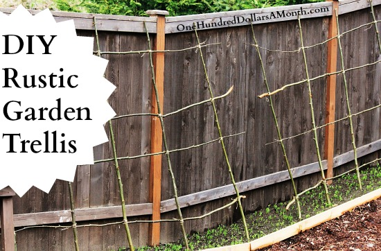 DIY Rustic Pea Bean or Garden Trellis e Hundred Dollars a Month