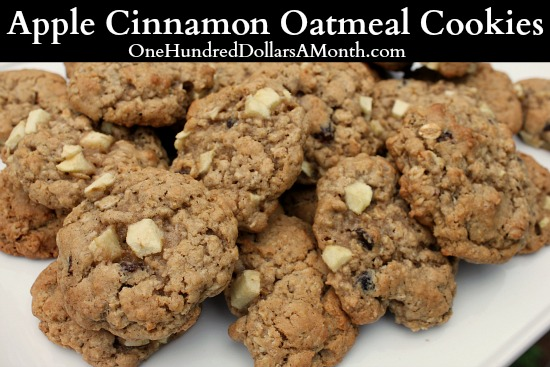 Apple Cinnamon Oatmeal Cookies - One Hundred Dollars a Month