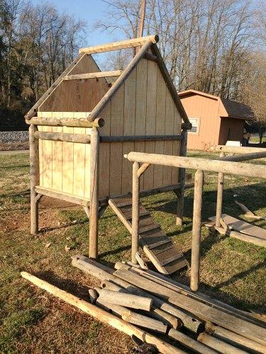 DIY Chicken Coop Old Swing Set