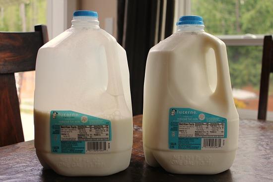 safeway gallon milk jugs