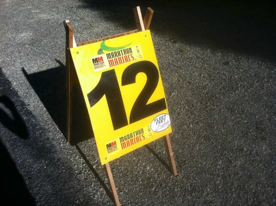 12 mile marathon marker