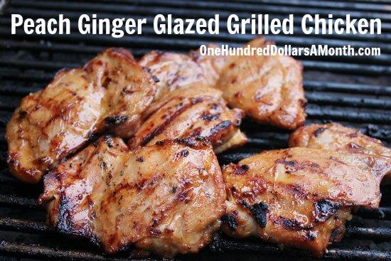 Peach Ginger Glazed Grilled Chicken