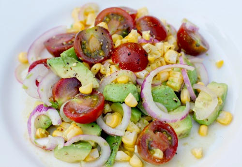 Easy-Salad-Recipes-Heirloom-Tomato-Corn-and-Avocado-Salad