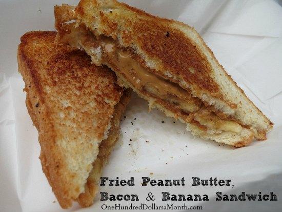 Recipe Elvis Presley's Fried Peanut Butter, Bacon and Banana Sandwich
