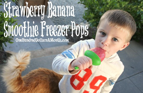 Strawberry Banana Smoothie Freezer Pops Recipe