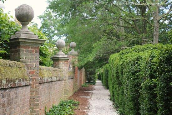 Gardens In Colonial Williamsburg Va One Hundred Dollars