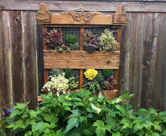 superb garden ideas with wooden pallets stand