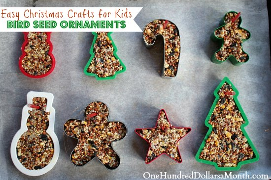 Make Christmas Ornaments Easy Crafts : Easy christmas crafts bird seed ornaments one hundred
