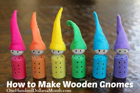 Easy Crafts for Kids wooden gnomes