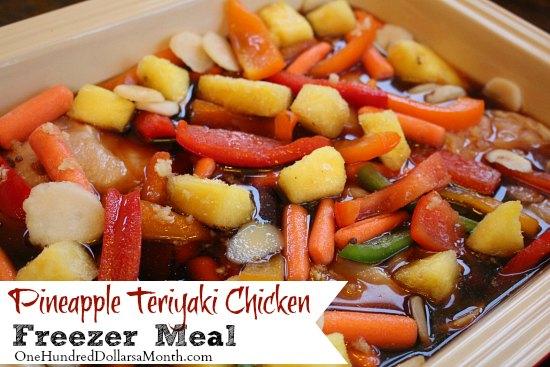 Freezer Meals - Pineapple Teriyaki Chicken