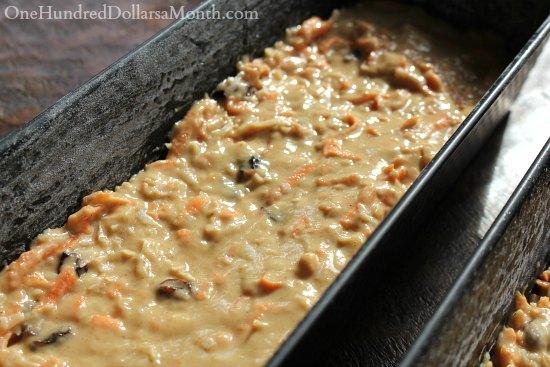 carrot bread recipe
