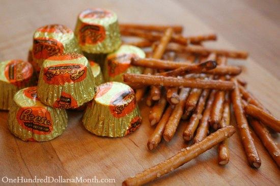 Reese's Peanut Butter Cups Halloween Broom Treats
