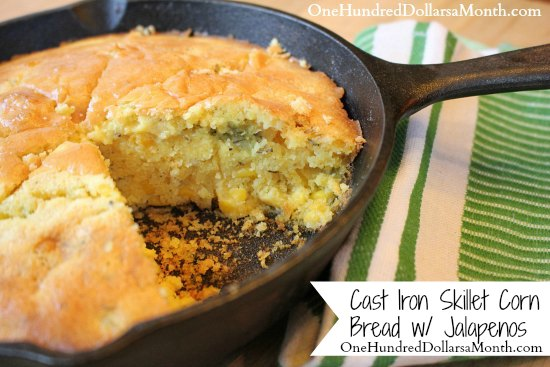 Cast-Iron-Skillet-Corn-Bread-with-Jalapenos