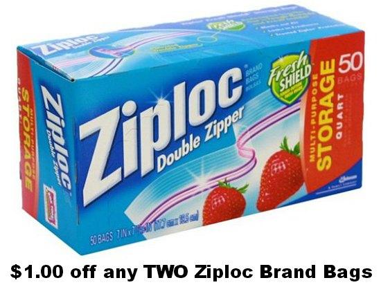 ziplock coupons