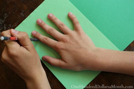 Easy Christmas Crafts for Kids - Handprint Christmas Wreath