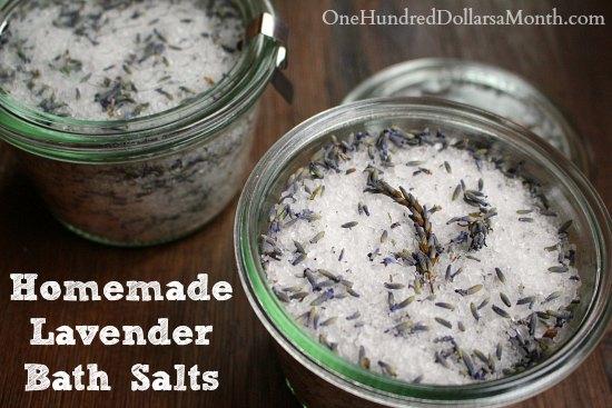 Homemade Lavender Bath Salts