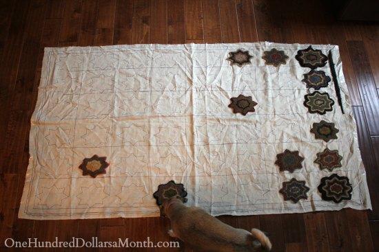 folk art star rug