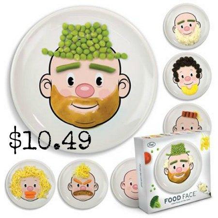 food face dinner plate