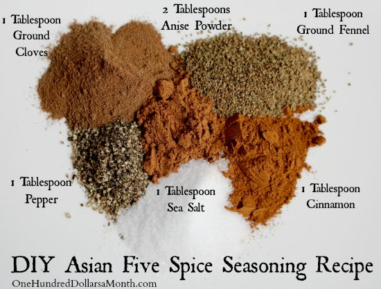 DIY Asian Five Spice Seasoning Recipe - One Hundred ...