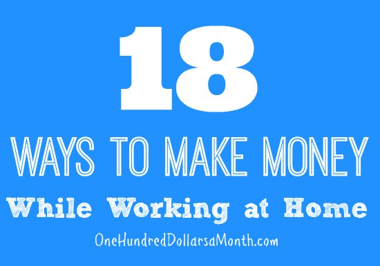 How To Make Money Working At Home Income Earning Ideas One