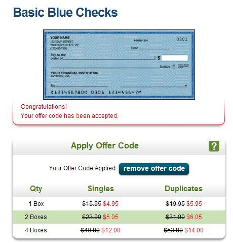 deals on checks