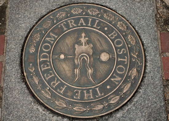 the freedom trail boston sign