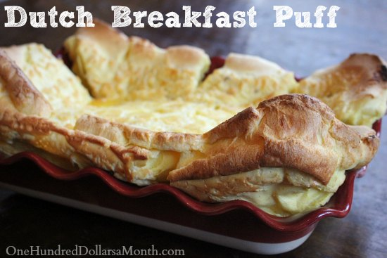 Dutch Breakfast Puff recipe