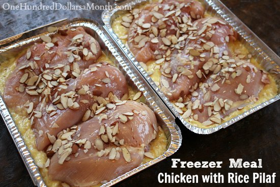 Easy Freezer Meal - Chicken with Rice Pilaf