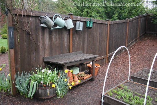 potting bench spring
