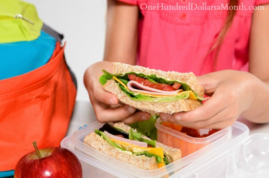 kids sack lunch for school