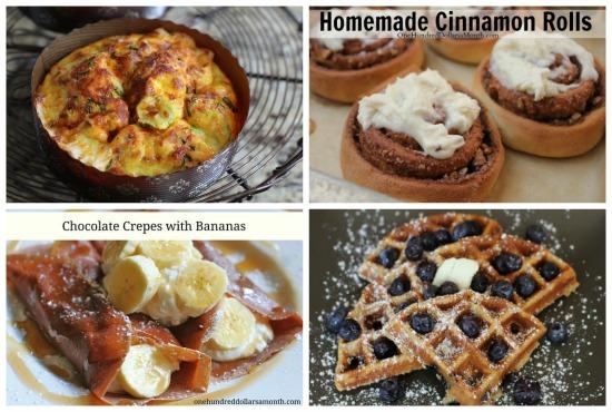 weekly breakfast menu plans