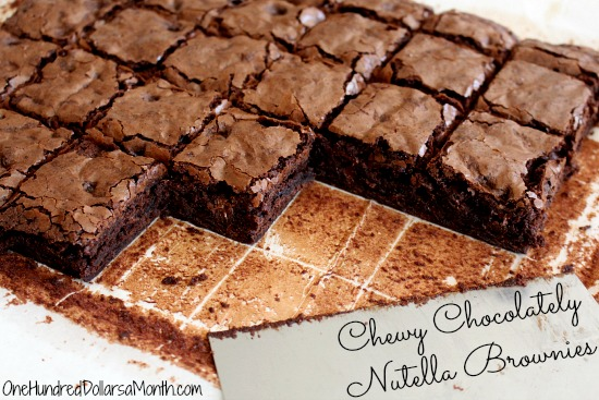 Chewy Chocolately Nutella Brownies
