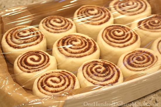 proofing cinnamon rolls